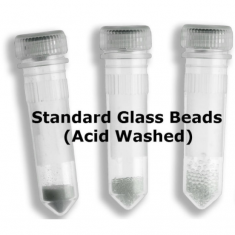 standard glass beads, acid washed